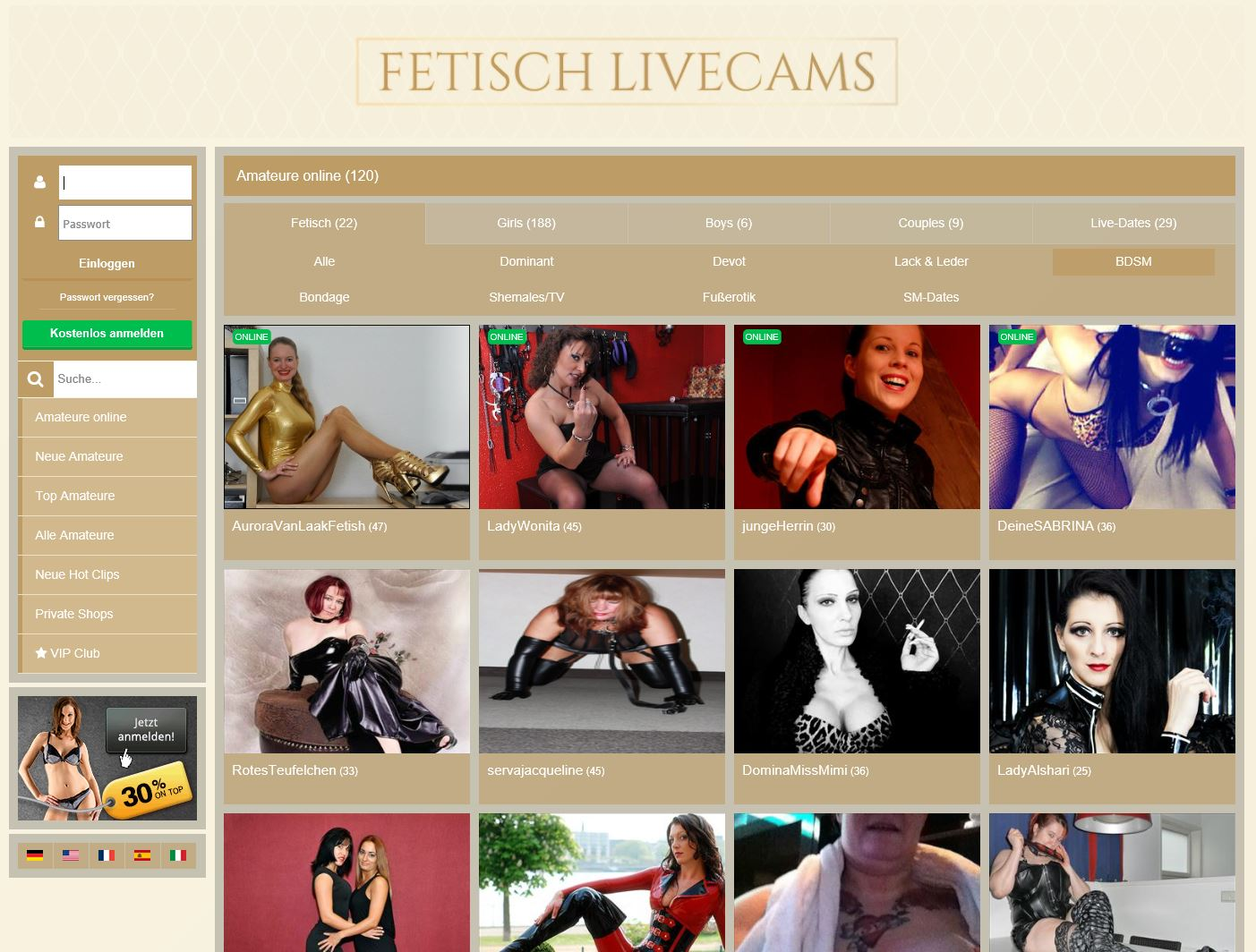 fetisch livecam girls